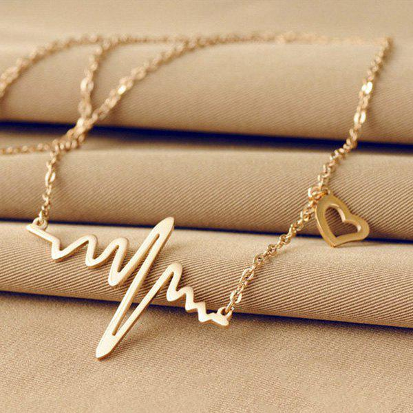 Filigree Heartbeat Necklace - CHAMPAGNE GOLD