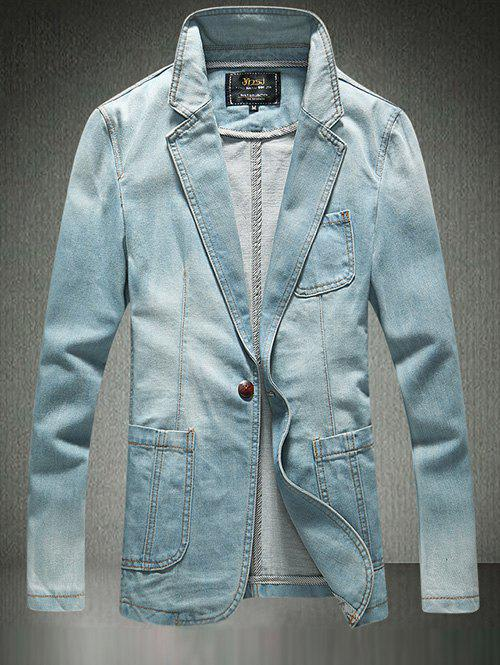 One-Button Breast Pocket Denim Jacket personal breast health scanner helps detect potential masses during in home breast self exams