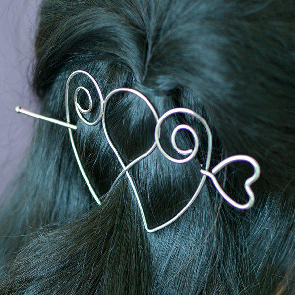 Double Love Heart Alloy Hair Accessory