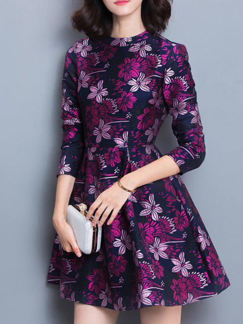Floral Pattern Dress - COLORMIX L