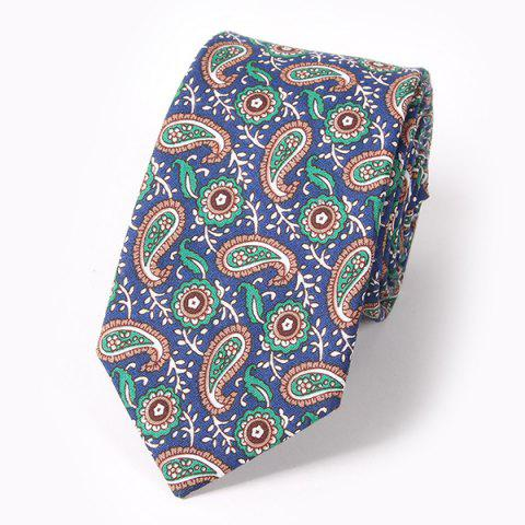 Casual Ethnic Paisley Pattern 6CM Width Tie - DEEP BLUE