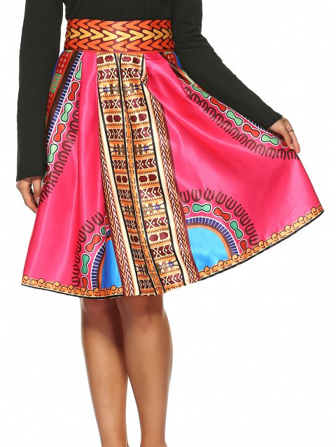 db13ab24d23 2019 Vintage Knee-Length African Skirt In WATERMELON RED M ...