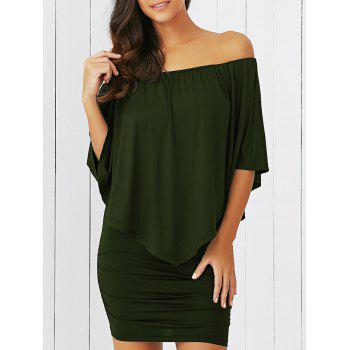 Off-The-Shoulder Bodycon Overlay Dress