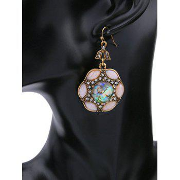 Faux Crystal Rhinestone Drop Earrings