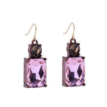 Faux Crystal Rhinestone Square Drop Earrings