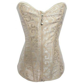 Jacquard Lace-Up Slimming Corset