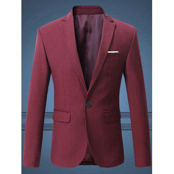 Notch Lapel Breast Pocket One-Button Blazer