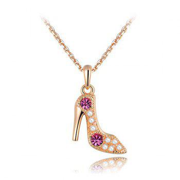Faux Crystal Stiletto Pendant Necklace