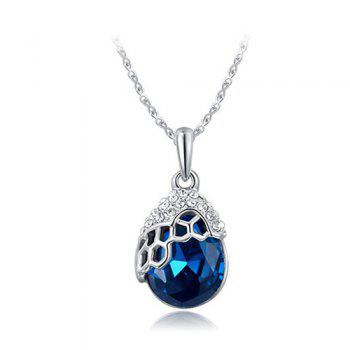 Rhinestone Teardrop Artificial Crystal Pendant Necklace
