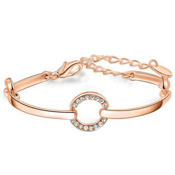 Circle Shape Adjustable Fake Diamond Bracelet