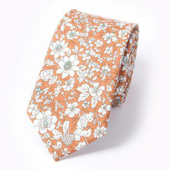 Casual Floral and Leaf Pattern 6CM Width Tie