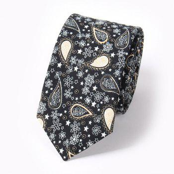 Casual Paisley and Snowflake Pattern 6CM Width Tie