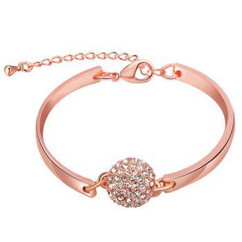 Geometric Ball Adjustable Artificial Diamond Bracelet