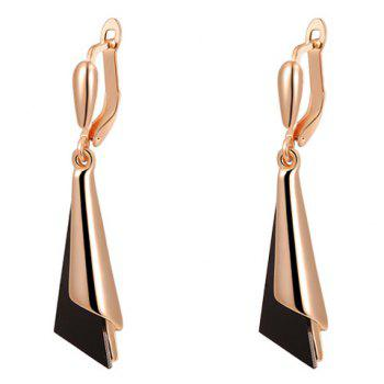 Geometric Shape Triangle Drop Earrings