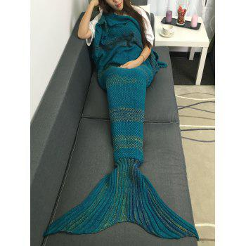 Chic Quality Super Soft Crochet Knitted Mermaid Tail Sofa Blanket