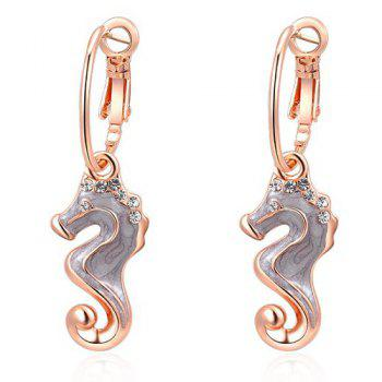 Rhinestone Hippocampus Drop Earrings