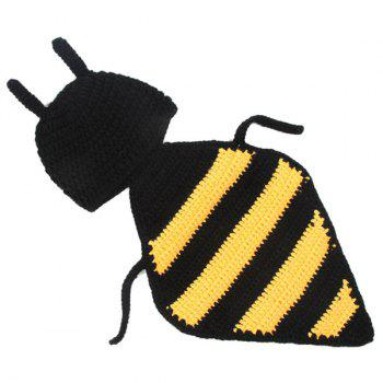 Bee Shape Hand Crochet Knitting DIY Baby Hooded Blanket