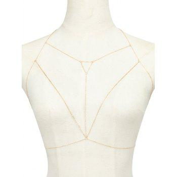 Alloy Triangle Hollow Out Beach Body Chain - GOLDEN GOLDEN