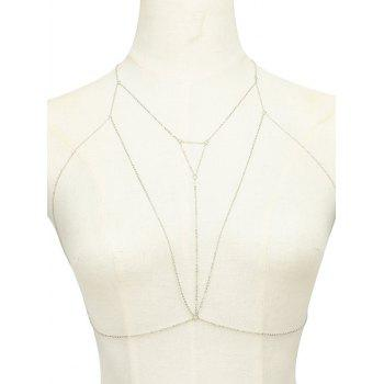 Alloy Triangle Hollow Out Beach Body Chain - SILVER SILVER