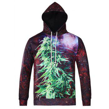 3D Plant Printed Pullover Galaxy Hoodie