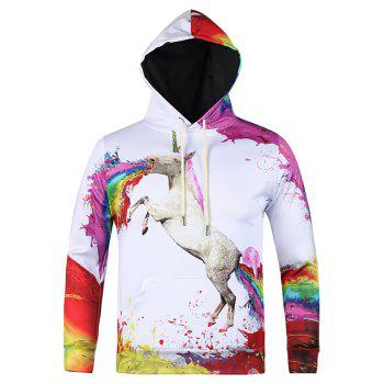 Paint Horse 3D Printed Pullover Cool Hoodie