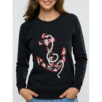 Floral Embroidered Fitting T-Shirt