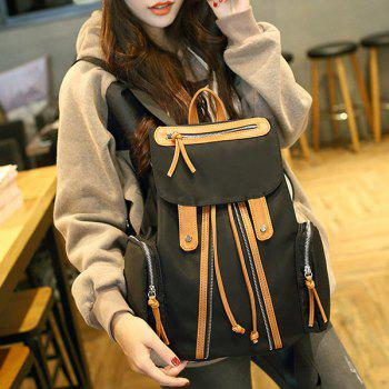 Side Pocket Flap Drawstring Backpack