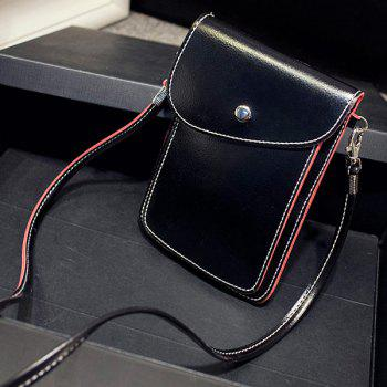 Flap Leather Stitching Crossbody Bag