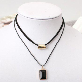 Faux Gem Double Layer Necklace