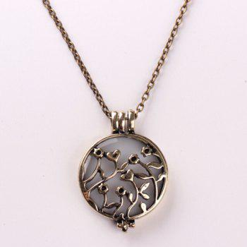 Noctilucence Hollowed Rattan Pendant Necklace
