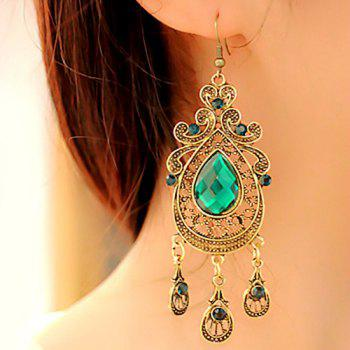 Faux Crystal Teardrop Drop Earrings