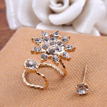 Rhinestone Sun 2PCS Earrings Set