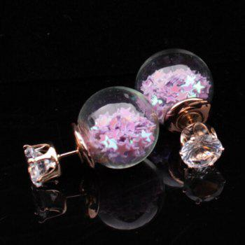 Transparency Ball Star Stud Earrings