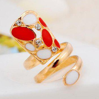 Punk Rhinestone Fingernail Ring - GOLDEN