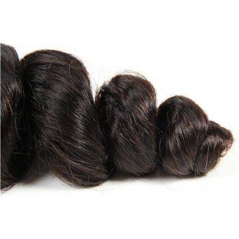 1 PCS 6A Virgin loose Vague brésilienne Tissages Cheveux - Noir 10INCH