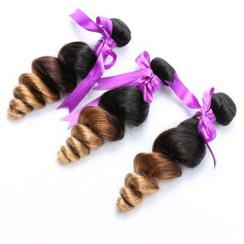 1 PCS Multi Color 6A Virgin Loose Wave Brazilian Hair Weaves - 18INCH 18INCH