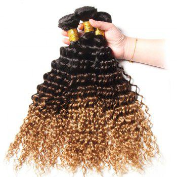 1 PCS Multi Color 6A Virgin Deep Curly Brazilian Hair Weaves - 14INCH 14INCH