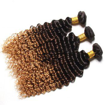 1 PCS Multi Color 6A Virgin Curly profondes brésiliennes Tissages Cheveux - multicolorcolore 12INCH