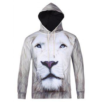 3D All Over Lion Printed Cool Hoodie