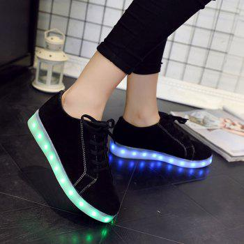 Lights Up Suede Led Luminous Athletic Shoes - 43 43
