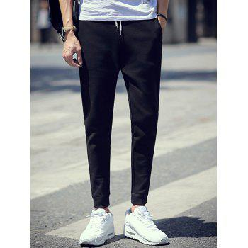 Slim-Fit Color Block Drawstring Jogger Pants