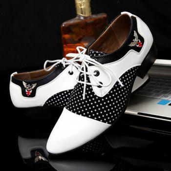 Métal Tie Up épissage Formal Shoes - Blanc et Noir 44