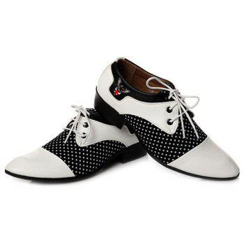 Métal Tie Up épissage Formal Shoes - Blanc et Noir 40