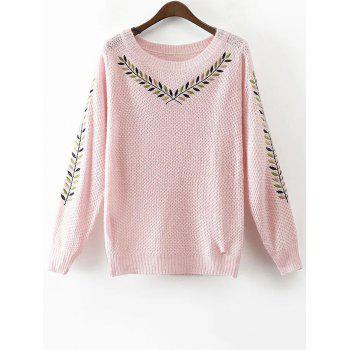Round Neck Embroidered Sweater