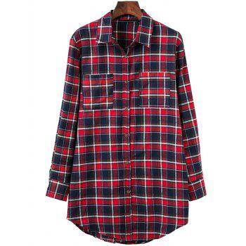 Plaid Oversized Flannel Shirt With Pockets