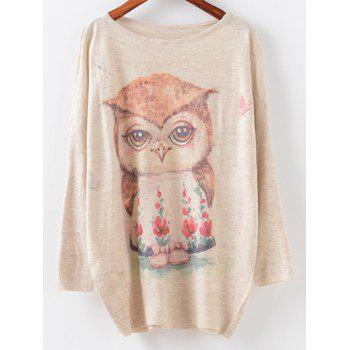 Round Neck Cartoon Pattern Knitwear
