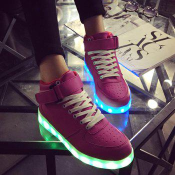 Lights Up Tie Up Led Luminous Athletic Shoes