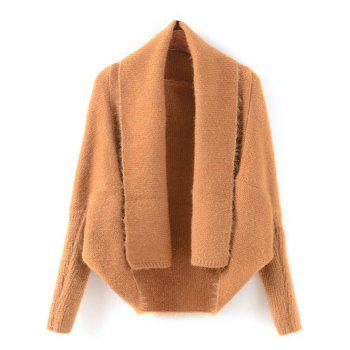 Batwing Sleeve Convertible Cape Cardigan