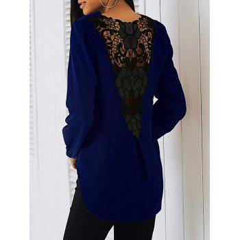 Surplice Lace Patchwork Blouse