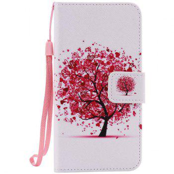 Tree Pattern Wallet Phone Case For iPhone 7 - WHITE WHITE